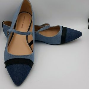 Who what wear denim Flats size 11